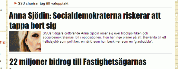Dagens Opinion intervjuar Anna Sjödin